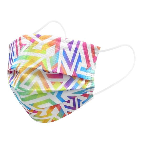 【3期零利率】預購 RM-A123 一次性防護彩色幾何口罩 50入/包 3層過濾 熔噴布 高效隔離汙染 (非醫療)