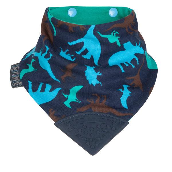 【英國 Cheeky Chompers】全世界第一個咬咬兜/ 圍兜 / 口水巾-恐龍樂園