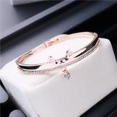時尚百搭簡約學生手鏈女手鐲 閨蜜姐妹手鏈生日禮物韓版水鉆手環