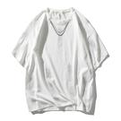 潮流嘻哈反光塗鴉T恤 男生五分袖T恤 2021夏季歐美寬鬆短袖T恤 日系印花街頭潮牌體恤T恤