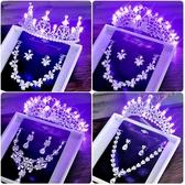 新娘皇冠發光禮服Baby頭飾品比賽聚會結婚紗發生日白珍珠帶燈禮物