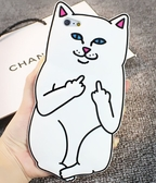現貨 中指貓 軟殼 Apple iPhone7/8S手機保護套 手機殼 矽膠軟套