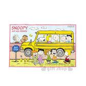 〔小禮堂〕史努比 野餐墊《S.藍.黃巴士.好朋友.60x90cm》單人用尺寸設計 4901367-04305