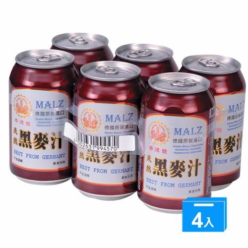 崇德發天然黑麥汁330ml*24瓶(易【愛買】