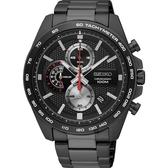 【台南 時代鐘錶 SEIKO】精工 Criteria 競速品味運動計時腕錶 SSB283P1@8T67-00F0SD 黑鋼 44mm