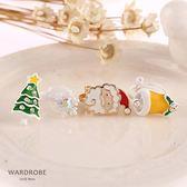 聖誕系列小樹雪花老公公鈴鐺耳針耳夾耳環/ 衣櫃控-WardrobE / YI045