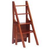 美式兩用樓梯椅人字梯椅子實木折疊梯凳室內家用多功能3梯子4步梯 QM 依凡卡時尚
