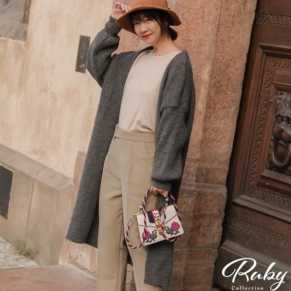 外套 RCha。飛鼠袖素色長版針織外套-Ruby s 露比午茶