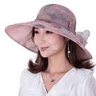 沙灘帽 帽子女夏天遮陽帽戶外大沿防曬防紫外線可折疊太陽帽沙灘帽出游