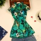 旗袍上衣 中式立領春裝新品唐裝女士修身蕾絲改良唐裝2色