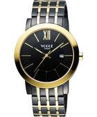 VOGUE 尊爵時尚羅馬腕錶-IP黑x雙色版/40mm 2V1407-231DYG-D
