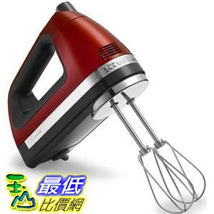 [美國直購] 手動 攪拌機 KitchenAid KHM920A (新款926A) 9-Speed Hand Mixer candy apple red - With U3