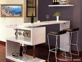 旋轉吧台現代簡約客廳旋轉吧台隔斷烤漆吧台酒櫃玄關組合吧椅 YTL LannaS