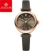 JULIUS 聚利時平行時空簡約皮錶帶腕錶大象灰28mm ~JA 1018C ~