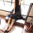 洋裝-Tirlo-多層次加長版蕾絲背心裙...