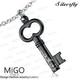 《 SilverFly銀火蟲銀飾 》【MiGO】關心白鋼項鍊-男墜