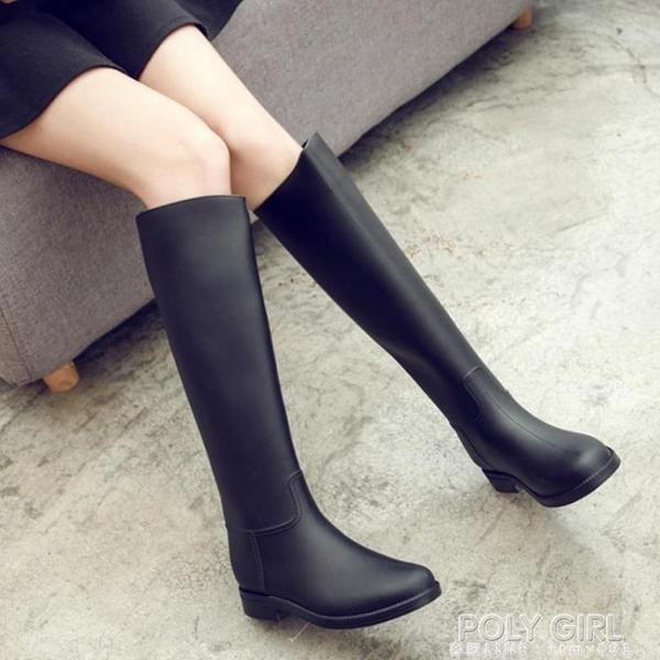 外穿雨鞋女高筒秋冬時尚雨靴女成人長筒水鞋女士防滑膠鞋馬丁水靴