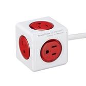 PowerCube防雷抗突波款 延長線 / 紅色 3m【allocacoc】