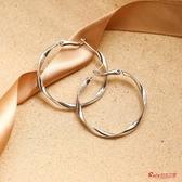 耳環 圓環圈圈耳環女新款潮s925銀韓國個性耳墜氣質網紅耳圈耳飾 2色 快速出貨