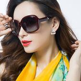 時尚太陽鏡女潮大框眼睛墨鏡圓臉偏光復古防紫外線眼鏡【無趣工社】