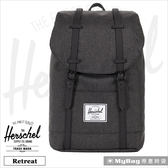 Herschel 後背包 15吋休閒電腦後背包 Retreat-2093 黑色十字線 得意時袋