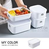密封盒 保鮮盒 收納盒 塑料盒 D款 便當盒 食品收納盒 可疊 印花款 微波保鮮盒【Q025】MY COLOR