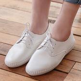 小白鞋 D+AF 樂活舒適.超軟縫線底休閒牛津鞋*白