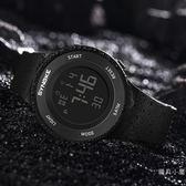 男士手錶防水夜光男孩女中學生青少年兒童鬧鐘多功能運動電子表腕