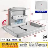 尿布台母嬰室護理台公共第三衛生間多功能可摺疊壁掛式換尿布床 3C優購