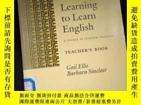 二手書博民逛書店LEARNING罕見TO LEARN ENGLISH A COURSE IN LEARNER TRAINING