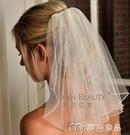 新娘頭紗韓式新款新娘短款頭紗結婚頭飾珍珠...