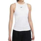Nike AS W NSW Essntl Tank Rib 女 白 刺繡 小LOGO 休閒 背心 CZ9815-100