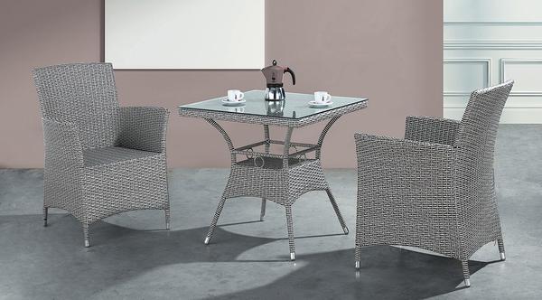 【南洋風休閒傢俱】戶外休閒桌椅系列-灰藤休閒方桌椅組 戶外餐桌椅CX901-5 CX901-6)