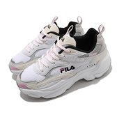 Fila 復古休閒鞋 J313V 1911 女鞋 灰 粉 米色 厚底 增高 老爹鞋 鯨魚鞋【ACS】 5J313V143