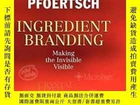 二手書博民逛書店【塑封精裝英文原版】科特勒新著《要素品牌戰略》Ingredient罕見Branding:making inv