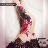 【買一送一】花腿全臂鯉魚鳳凰紋身貼大圖刺青【左岸男裝】