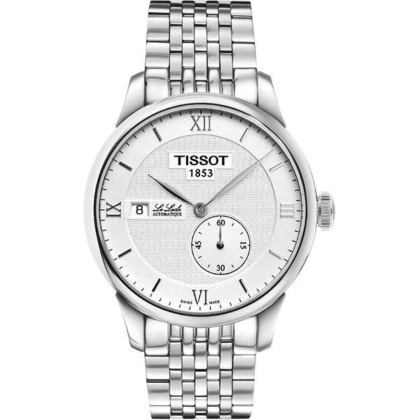TISSOT 天梭 Le Locle 力洛克獨立小秒針機械手錶-銀 T0064281103800