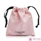 LANCOME 蘭蔻 粉色束口袋(13.5X15cm)【美麗購】