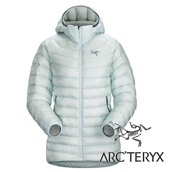 【Arc'teryx 始祖鳥】女頂級歐洲白鵝絨羽絨外套(膨脹係數850.修身版型.超輕)『露珠藍』L06920