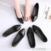 舒適工作鞋平底鞋女職業鞋單鞋女鞋秋季新款百搭黑色鞋子 印象家品旗艦店