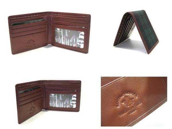 【寧寧精品*台中包包皮件皮帶店】Polo Santa Barbara 皮夾 包包【美系綠格紋*6張卡超薄短夾】71-2