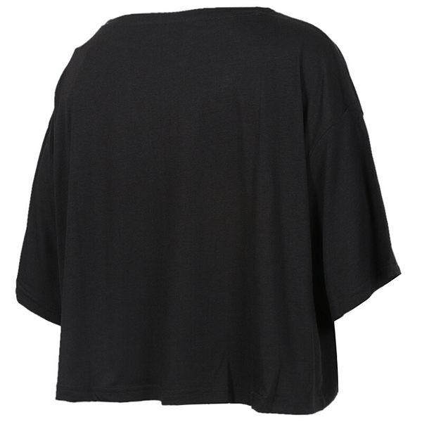 PUMA 女裝 休閒 訓練 慢跑 短版 胸前印花 側邊LOGO 黑【運動世界】51810504