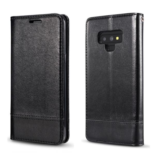 手機配件 適用三星Note9拼接手機套翻蓋錢包支架皮套三星note9掛繩保護套手機殼 手機套 皮套