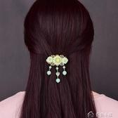 古風髮夾韓國時尚頭飾發夾復古風頂夾後腦勺發卡彈簧夾飾品首飾森繫女多色小屋