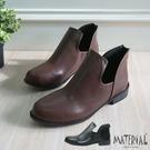 短靴 側空U型平底短靴 MA女鞋 T80...
