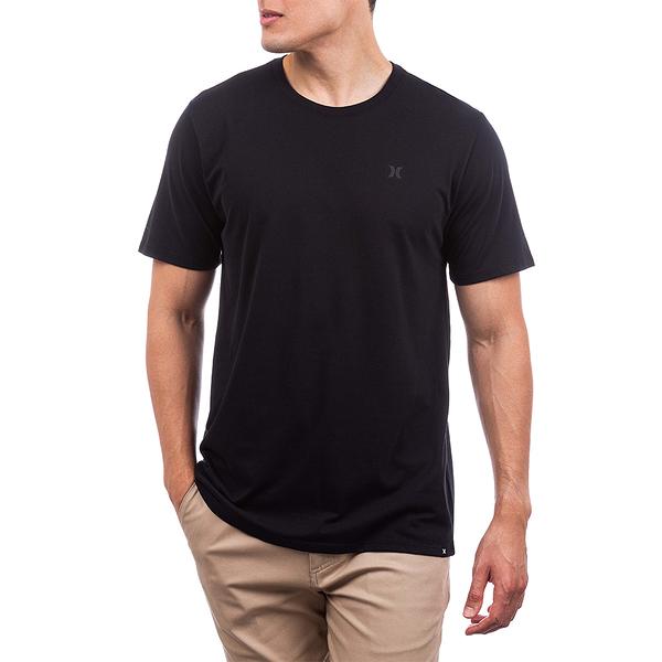 HURLEY|男DF STAPLE ICON REFLECTIVE SS BLACK/BLACK T恤-(黑)