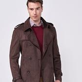 SST&C 男裝 深咖啡雙排扣風衣外套 | 0612009011