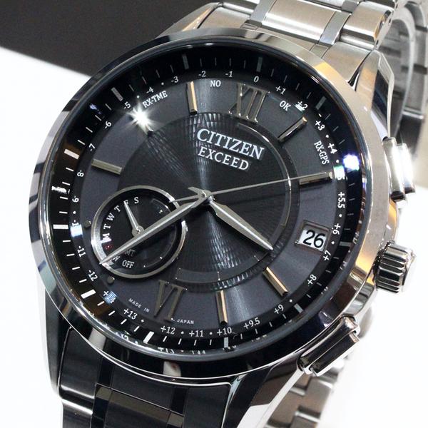 【萬年鐘錶】Citizen EXCEED Eco Drive光動能 衛星GPS定位對時  限量鈦金屬款  淺灰錶面 銀錶帶 CC3050-56E