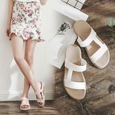 時尚一字拖鞋女士沙灘鞋厚底防滑平底夏季涼拖鞋外穿2020新款室外