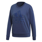 Adidas Sport ID 女 深藍 運動上衣 經典字母 大Logo 長T 大學T t恤 Sweat 愛迪達 衛衣 CF1432